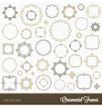 Set of flourishes ornament frames vector image