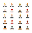Set of people avatars profession professional vector image