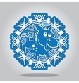 Snowflake of the Horse the Chinese zodiac vector image