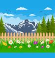 summer garden landscape vector image