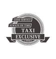 Taxi logo badge vector image