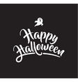 Halloween greeting card poster with lettering vector image