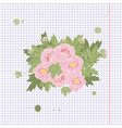 floral peony retro vintage background vector image