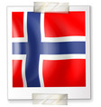 norway flag on square paper vector image vector image