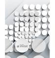 3d paper circles modern design vector image vector image