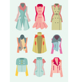 collection of woman coats and jackets vector image vector image