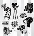 retro cinema set vector image vector image