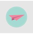 Origami paper plane icon Flat design vector image