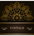 Vintage gold backround vector image