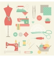sewing set vector image vector image
