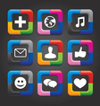 social media buttons vector image vector image