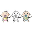 Baby boy and girl vector image