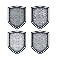 Shield icons set Black symbols vector image