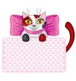 kitty card vector image