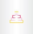 birthday cake symbol icon design element vector image