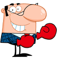 Business Manager With Boxing Gloves vector image