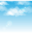 clouds in the blue sky background vector image