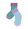 colorful silhouette of pair of socks vector image