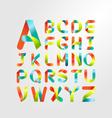 Ribbon alphabet colorful font Capital letter A-Z vector image