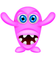 scary pink monster vector image