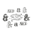 Set of decoration ampersands vector image
