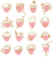 Set of faces icons - funny graphic vector image