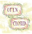 Signs open closed vector image