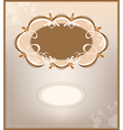Victorian background and frame vector image
