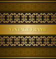 Vintage victorian golden card vector image