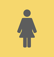 Woman Sign Icon vector image
