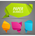 Abstract paper bubbles for speech vector image vector image