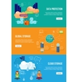 Data Protection Global Storage and Cloud Storage vector image