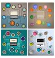 Creative web design templates vector image vector image