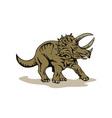 Triceratop Dinosaur vector image