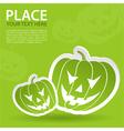 pumpkin halloween sticker vector image vector image