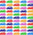 cars pattern vector image vector image