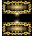 golden ornament and stars vector image