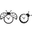 ladybird wall clock vector image