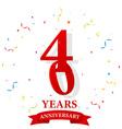 Anniversary celebration with confetti vector image vector image