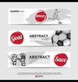 Abstract soccer football banner vector image