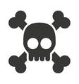 alert skull isolated icon design vector image