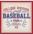 Baseball College Division Badge vector image