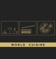 European Japanese Italian cuisine vector image