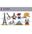 france travel destination banner with national vector image