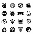 Pet icon set vector image