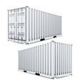 white cargo container 3d classic cargo vector image