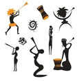 Abstract african native people vector image