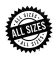 all sizes rubber stamp vector image
