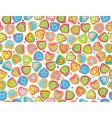 seamless pattern of fun hearts vector image vector image