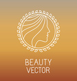 beauty and spa line logo vector image